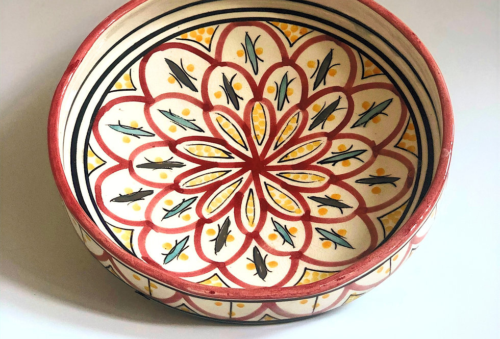 Red Painted Serving Plate