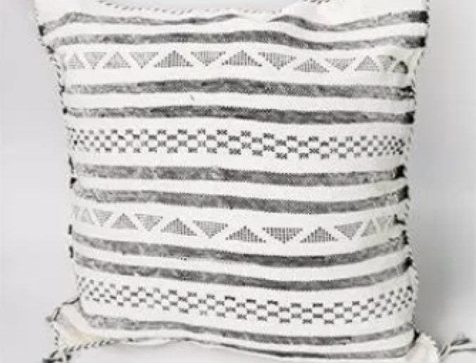 White & Black Strips Sabra Pillow