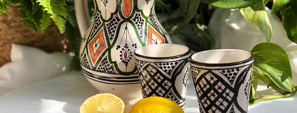 Black & Orange Ceramic Pitcher