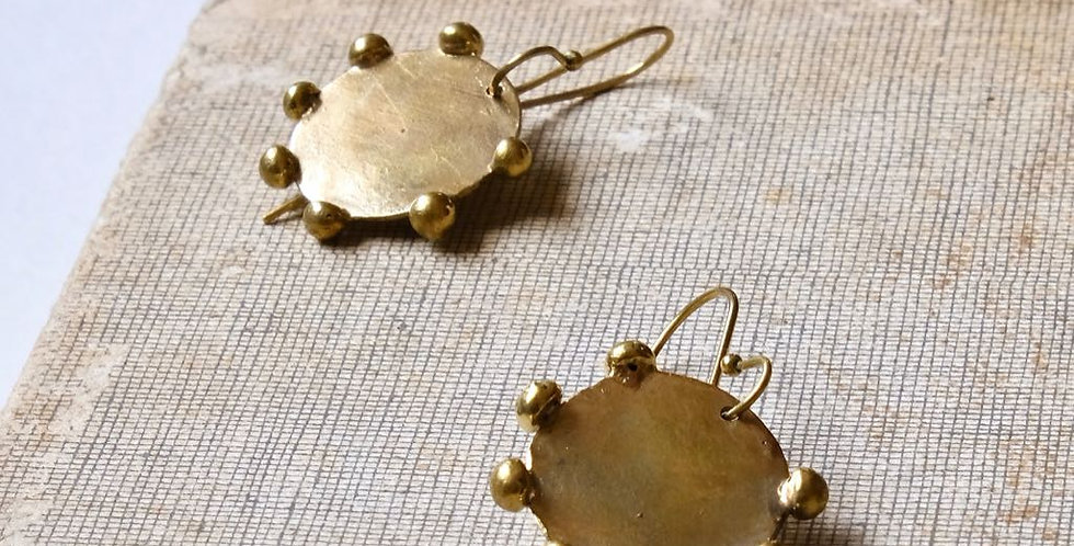 Handmade Hebba Sun Disc Earrings