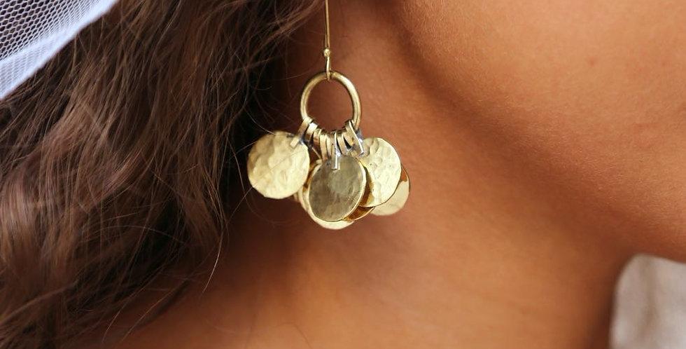 Handmade Moroccan Floos Cluster Earrings