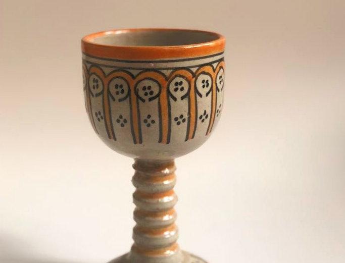 Orange Ceramic Wine Cup
