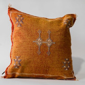 Orange Sabra Moroccan Pillow