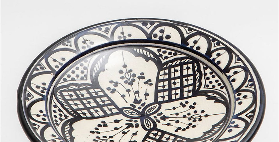 Black Ceramic Dinner Plate - Medium