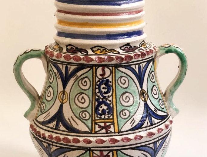 Illustrated Moroccan Vase