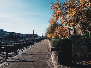 Sunday walk in sunny Turku riverside