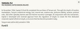 Tarquin, plc
