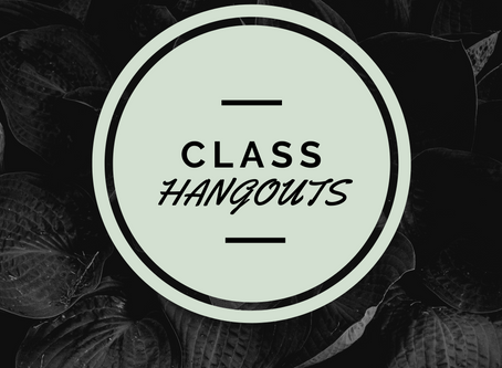 Class Hangouts This Sunday!