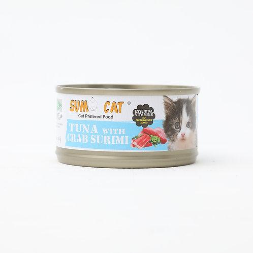 Sumo Cat Premium Tuna with Crab Surimi 80g