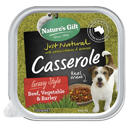 Nature's Gift Casserole Gravy Style Beef, Vegetable & Barley