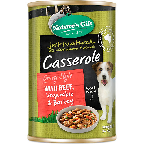 Nature's Gift Casserole Gravy Style with Beef, Vegetable & Barley
