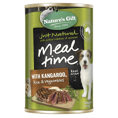 Natures Gift Meal Time with Kangaroo Rice & Vegetables