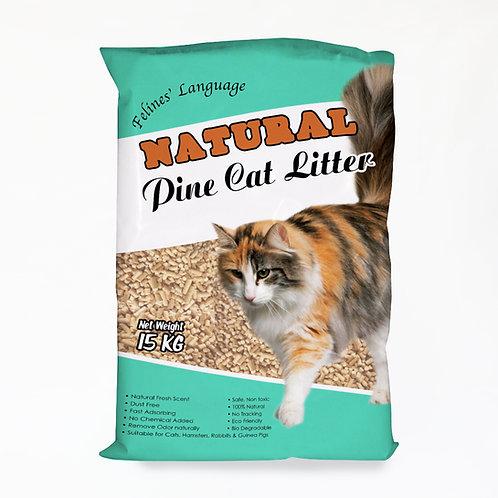 Felines' Language Pine Cat Litter 15kg