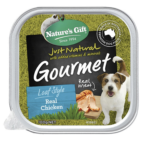 Natures Gift Gourmet Loaf Style Real Chicken