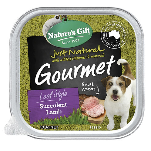 Natures Gift Gourmet Loaf Style Succulent Lamb