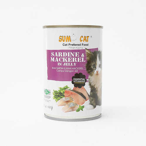 Sumo Cat Sardine & Mackerel in Jelly 400g