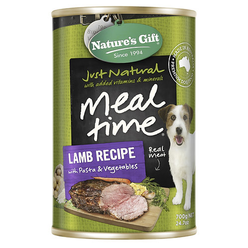 Nature's Gift Meal Time Lamb Recipe with Pasta & Vegetables