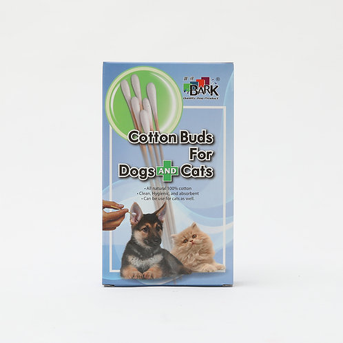 Bark Cotton Buds for Dogs and Cats 50pcs