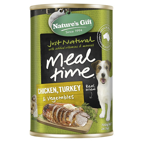 Nature's Gift Meal Time Chicken, Turkey & Vegetables Wet
