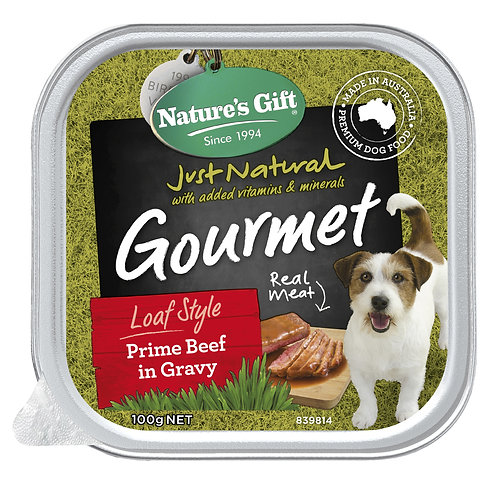 Nature's Gift Gourmet Loaf Style Prime Beef in Gravy