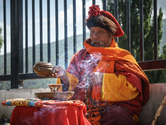 Monk Morning Offering Bhutan (1 of 1).jp