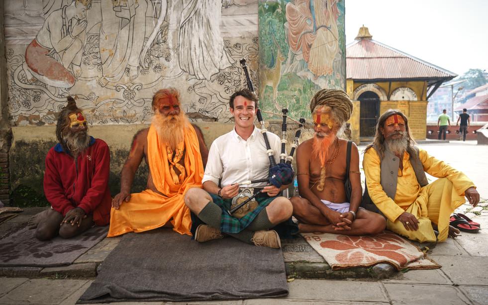 Pashapatinah Bagpipes & Sadhus Nepal (3