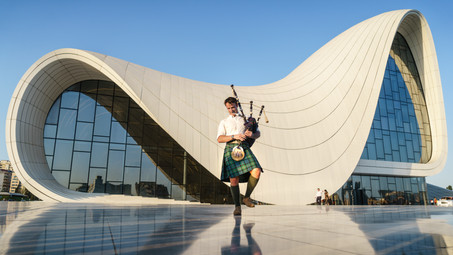 Heydar Aliyev Center Bagpipes (1 of 2).j
