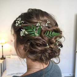 This bride decided to have her hair down but I love this shot of the updo we did from her bridal tri