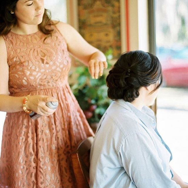 All brides are special but four years ago I did some extra special bridal hair for my best friend! H