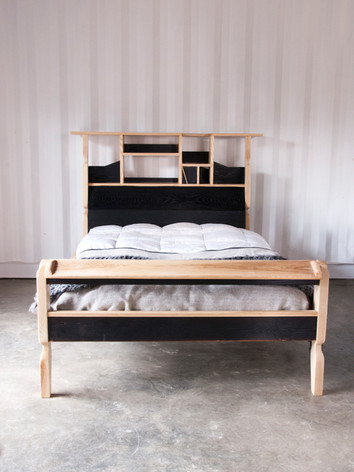 Black and White Bedframe