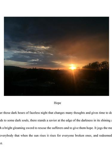 Moaz, Bugshan, 'Hope'