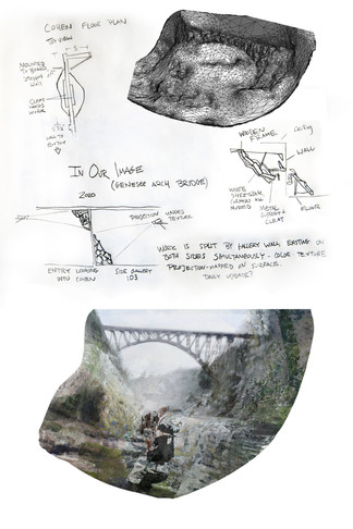 In Our Image (Genesee Arch Bridge), proposal sketches