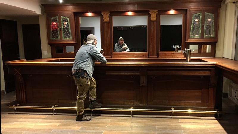 Bar renovation, transportation, and installation, American Legion, New York Athletics Club, NYC.