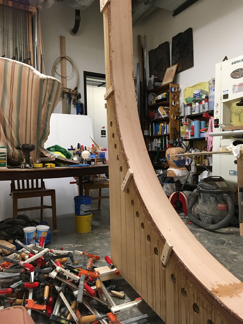 Custom jig in Michael Beitz's studio, Boulder, CO.