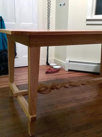 Oak and Ash Twist Table