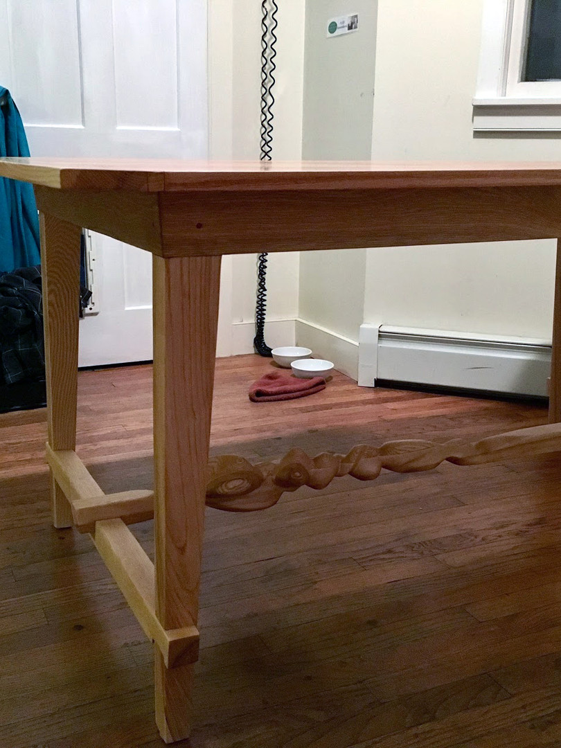 Oak and Ash Twist Table