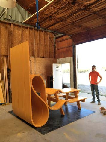 Custom order in Michael Beitz's studio, Boulder, CO.