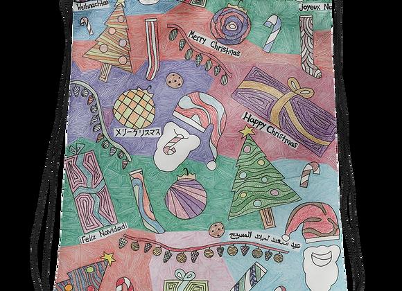 """""""Christmas Unwrapped"""" Drawstring Bag"""