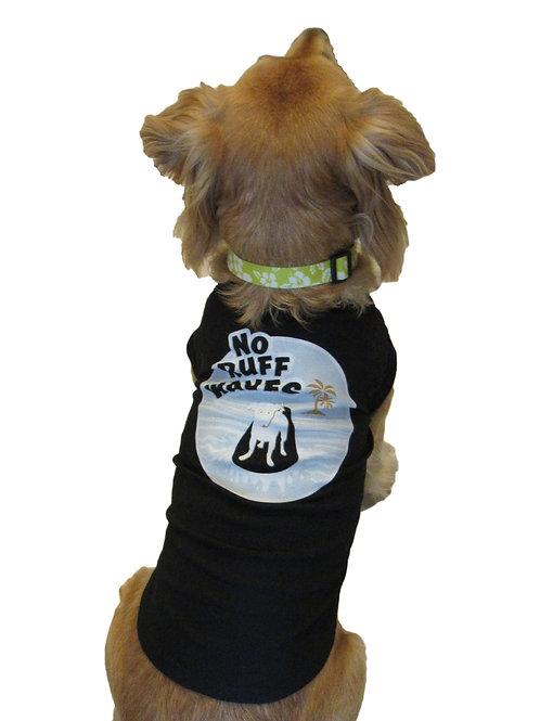 No Ruff Waves Surfing Dog Shirt