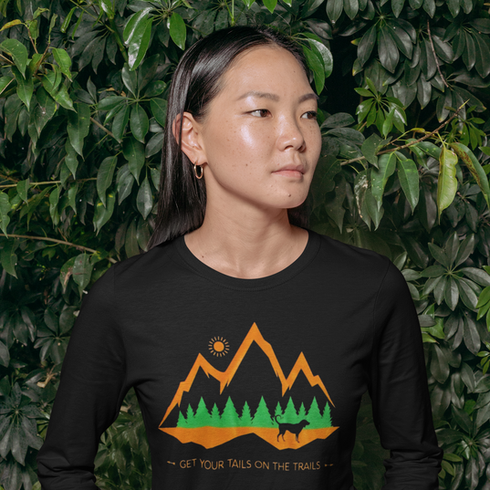 Unisex Tails on the Trails Long Sleeve Tee