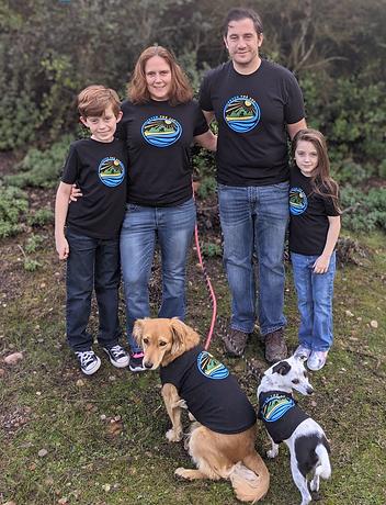 Family and Dog Matching Shirts