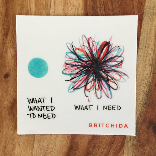 Sticker: What I Wanted to Need