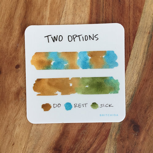 Sticker: Two Options