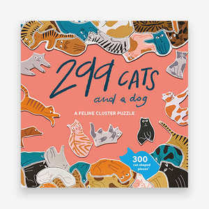 299 Cats (and a dog): 1000 piece cluster puzzle