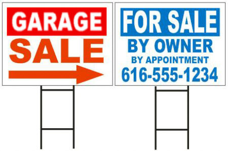 YARD SIGN WITH STAKES 18 X 24 1/1