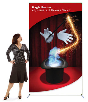 X MAGIC BANNER STAND LARGE
