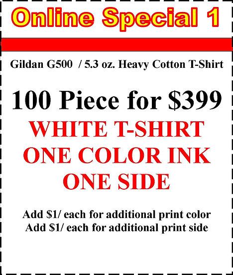 100 WHITE T-SHIRTS