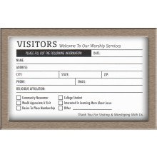 VISITOR CARDS 4 X 6  DOUBLE SIDES 500 CNT.