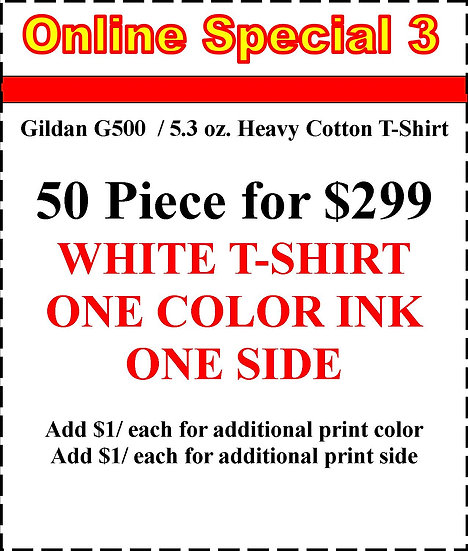 50 PIECE WHITE T-SHIRTS