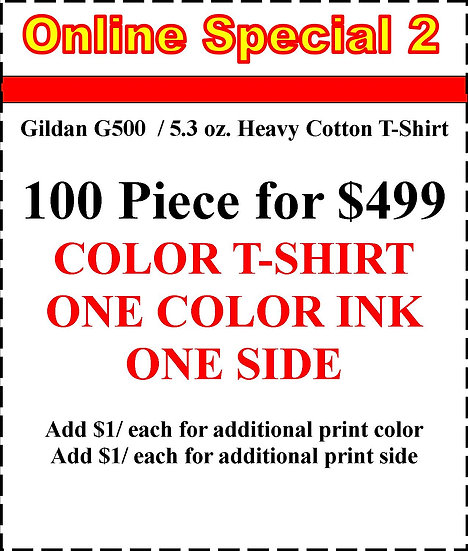 100 PIECE COLORED T-SHIRTS